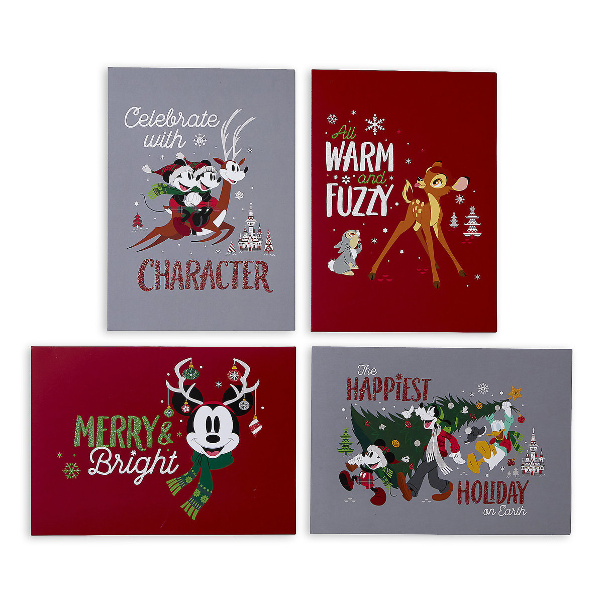 product image of santa mickey mouse and friends holiday greeting cards set 1 - Holiday Christmas Cards