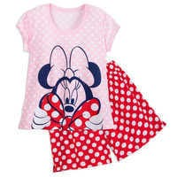 Image of Minnie Mouse Short Sleep Set for Women # 1