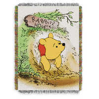 Image of Winnie the Pooh Woven Tapestry Throw Blanket # 1