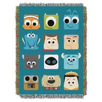 Image of Pixarland Woven Tapestry Throw # 1