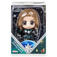 Image of Marvel's Captain Marvel Cosbaby Bobble-Head Figure by Hot Toys - Starforce Version # 4