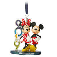 Image of Mickey and Minnie Mouse Figural Ornament - Walt Disney World 2019 # 1