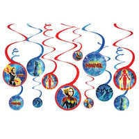 Image of Marvel's Captain Marvel Spiral Party Decorations # 1
