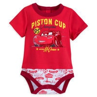Image of Lightning McQueen Cuddly Bodysuit for Baby # 1