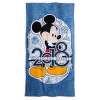 Image of Mickey Mouse 2018 Beach Towel - Disneyland # 1