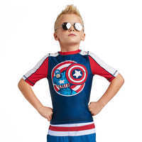 Image of Captain America Rash Guard for Kids # 2