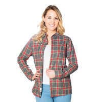 Image of Dumbo Flannel Shirt for Adults by Cakeworthy # 2