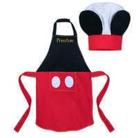 Image of Mickey Mouse Apron and Chef's Hat Set for Kids - Personalizable # 1