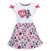 Image of Minnie Mouse Americana Dress for Girls - Walt Disney World # 1