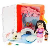 Image of Disney Animators' Collection Mulan Mini Doll Playset # 1