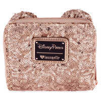 Image of Minnie Mouse Sequined Wallet by Loungefly - Rose Gold # 2