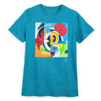 Image of Mickey Mouse Disney Parks Artist Series T-Shirt for Men by Dave Keefer # 1