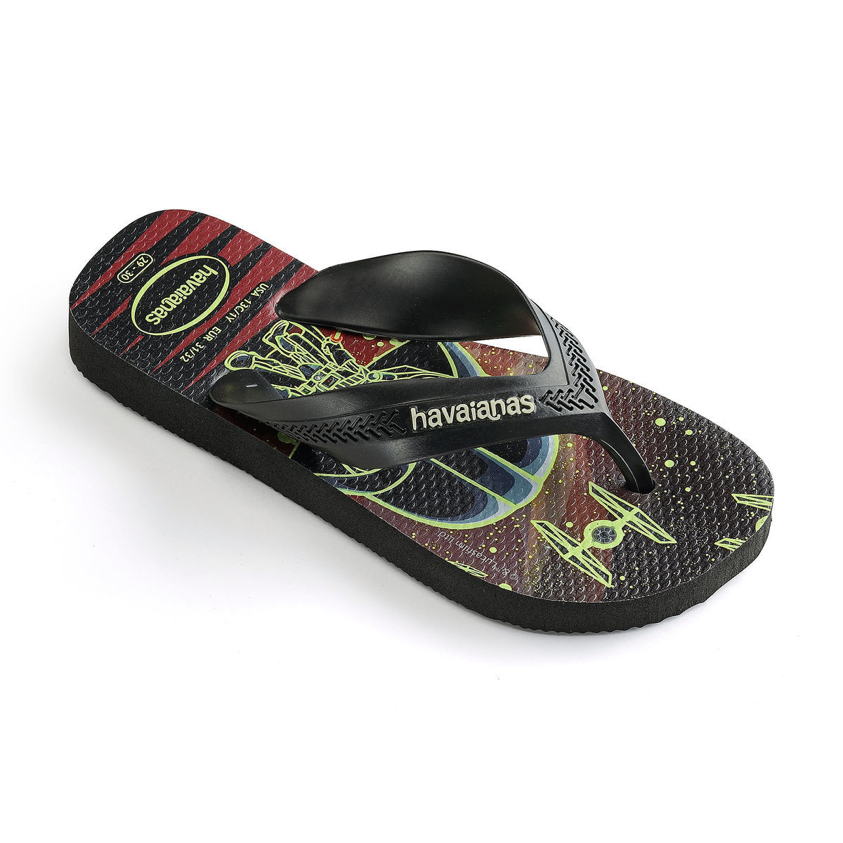Havaianas Star Wars Glow-in-the-Dark Kids Flip Flops