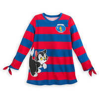 Image of Figaro and Cleo Long Sleeve Shirt for Women - Pinocchio # 1