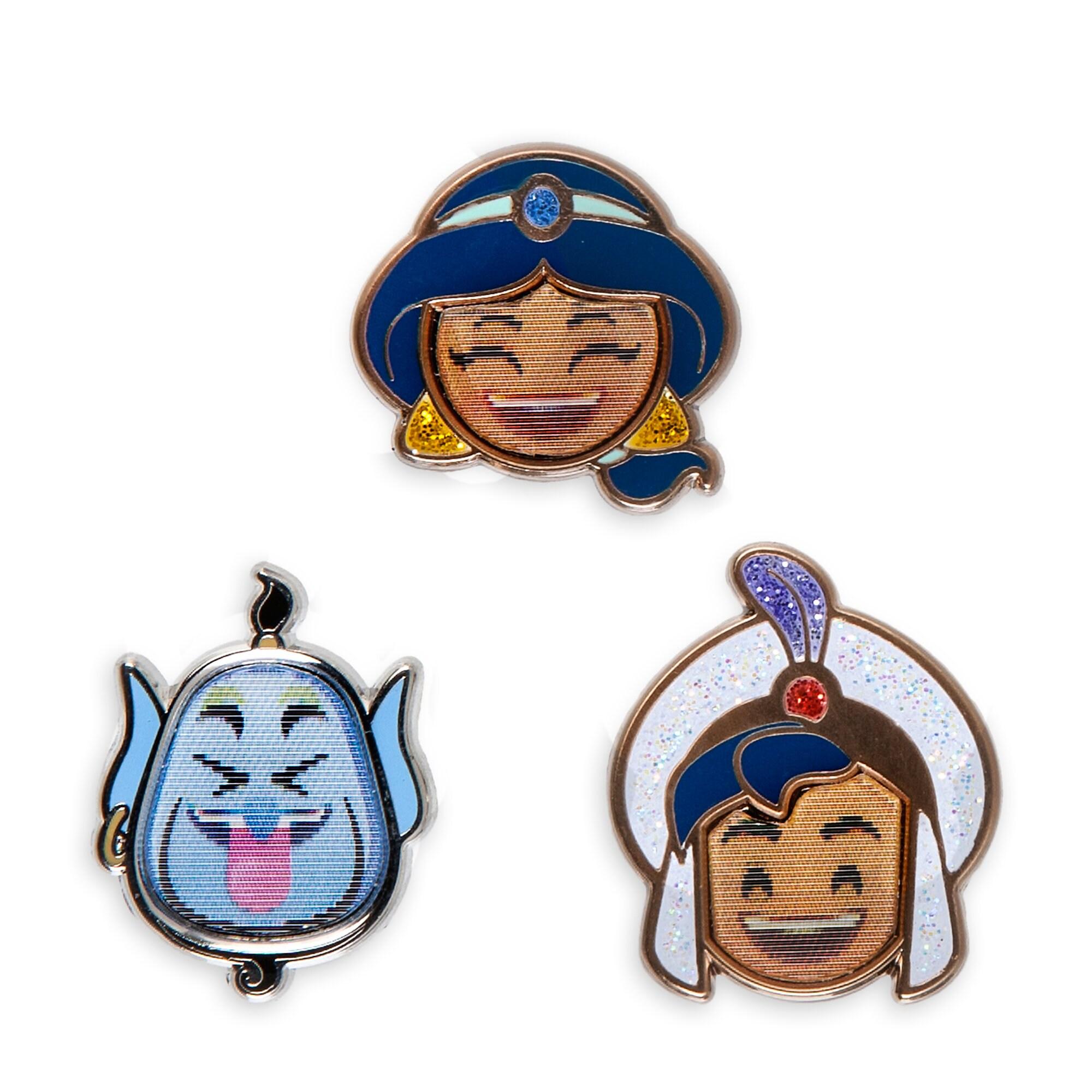 Aladdin Disney Emoji Mini Pin Set
