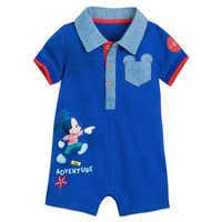 Image of Mickey Mouse and Donald Duck Romper for Baby # 1