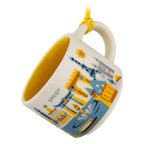 Epcot Starbucks YOU ARE HERE Mug Ornament