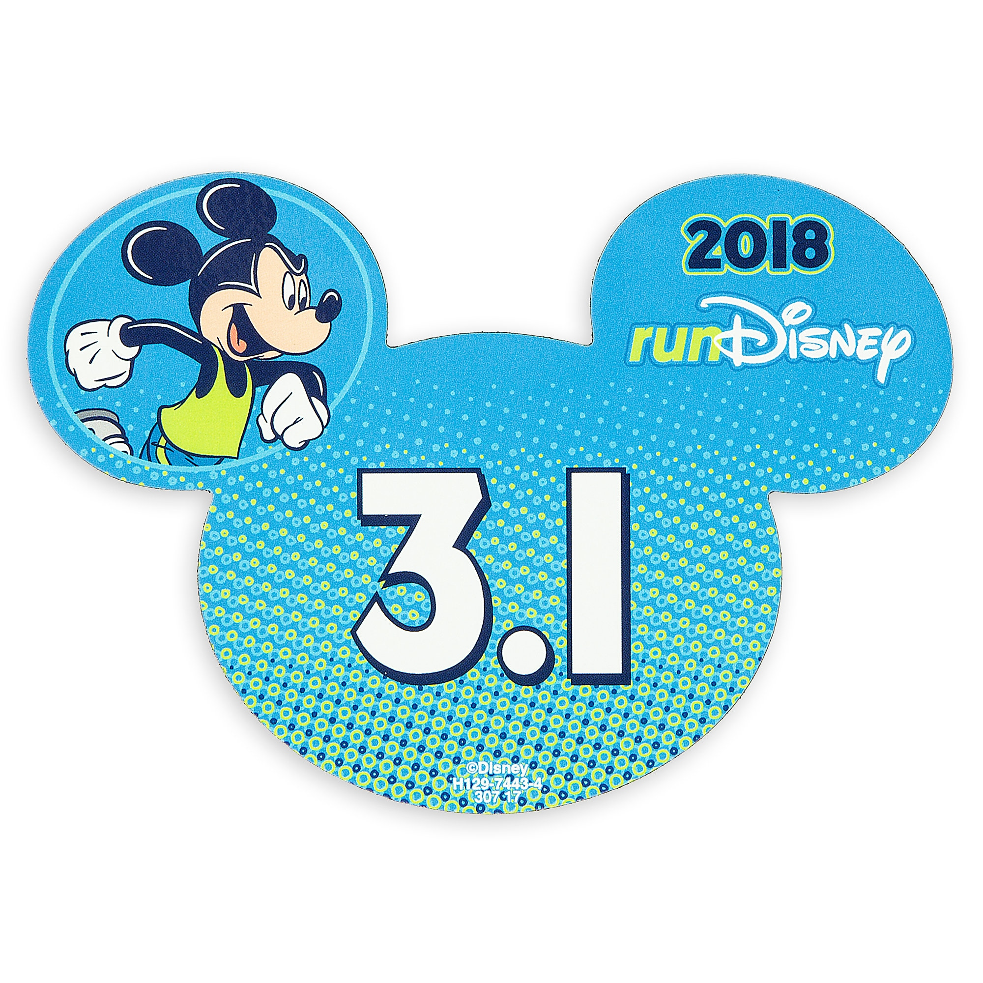 Mickey Mouse runDisney 2018 Magnet - 3.1