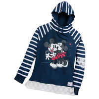 Image of Mickey and Minnie Mouse Smooches Hoodie - Women # 1