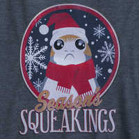 Image of Porg Holiday Raglan Shirt for Women - Star Wars: The Last Jedi # 2