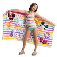 Disney Emoji Premium Beach Towel with Bag