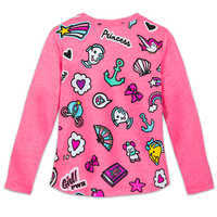 Image of Disney Princess Faces and Icons T-Shirt for Girls # 2