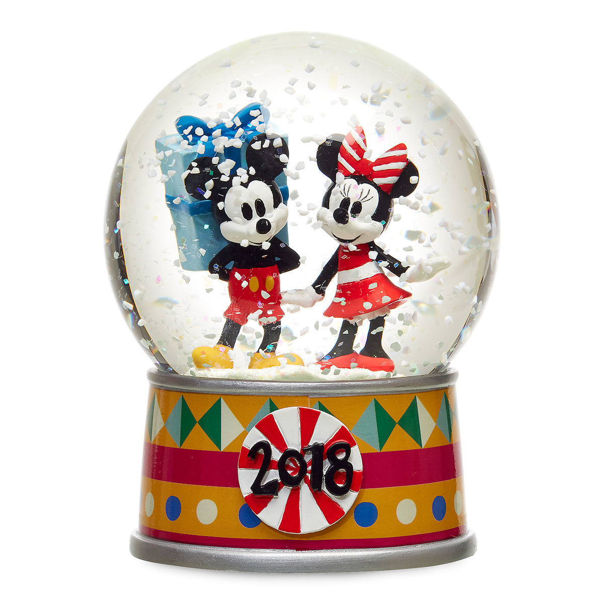 645eb93a2b1a Mickey and Minnie Mouse Holiday Snowglobe 2018