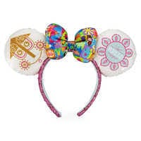 Image of Minnie Mouse Sequined Ear Headband with Satin Bow - Disney it's a small world # 1