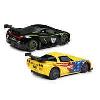 Image of Jeff Gorvette & Lewis Hamilton Pull 'N' Race Die Cast Set - Cars # 2