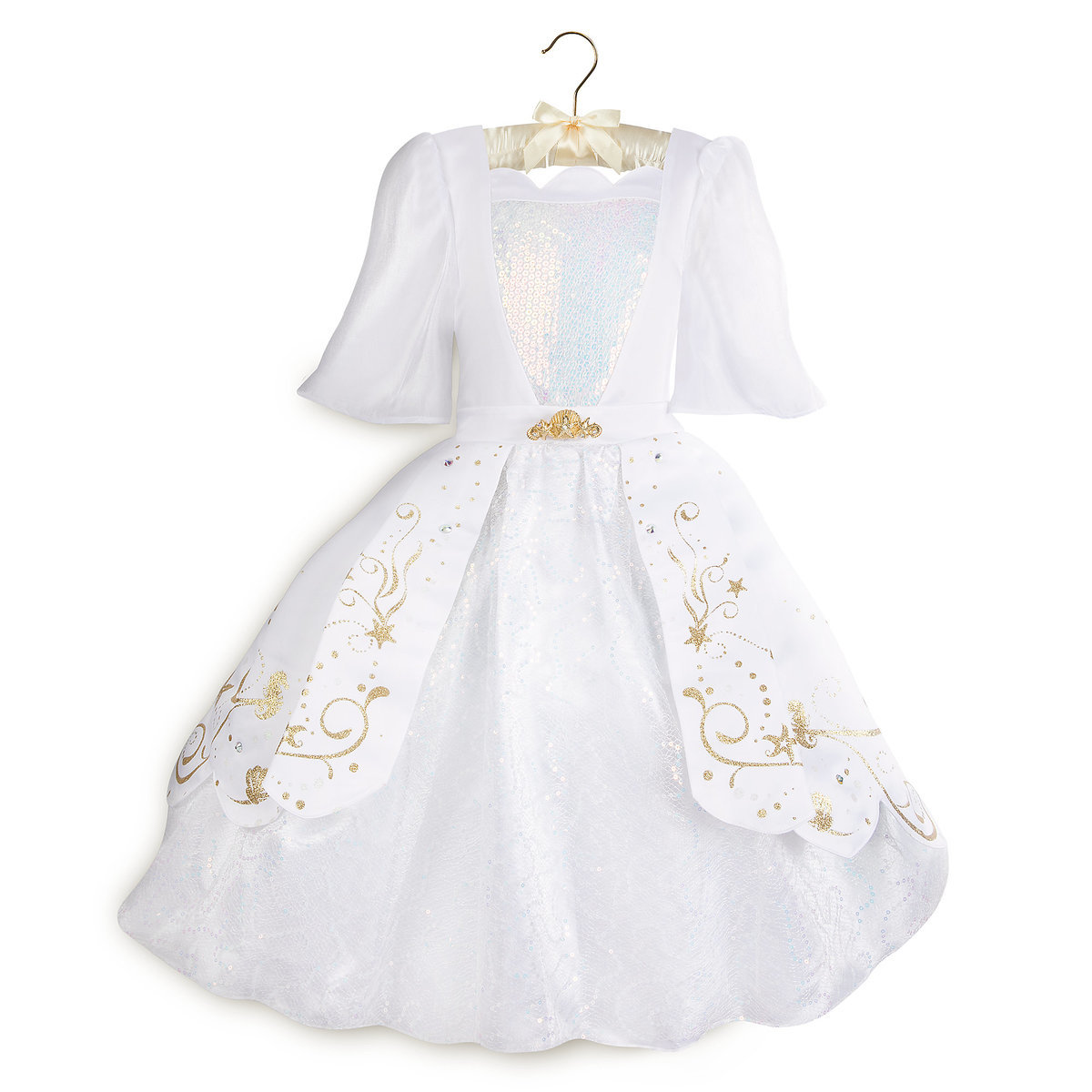 7511d5f4072e9 Product Image of Ariel Designer Wedding Gown Costume for Kids # 1