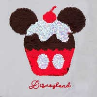 Image of Mickey Mouse Cupcake Reversible Sequin T-Shirt for Women - Disneyland # 3