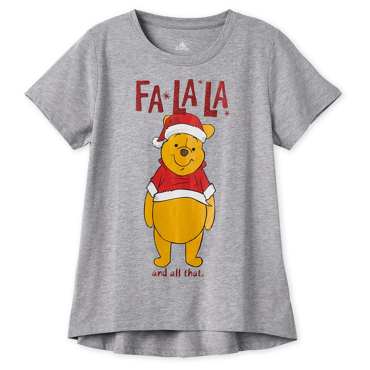 53c1a284 Product Image of Winnie the Pooh Holiday T-Shirt for Women # 1
