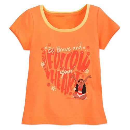 Moana Ringer T-Shirt for Girls ? Orange