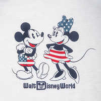 Image of Mickey and Minnie Mouse Americana T-Shirt for Women - Walt Disney World # 3