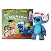 Image of Stitch Poseable Plush and ''Holiday Mischief with Stitch'' Book Set # 1