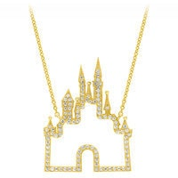 Fantasyland Castle Necklace by CRISLU - Gold