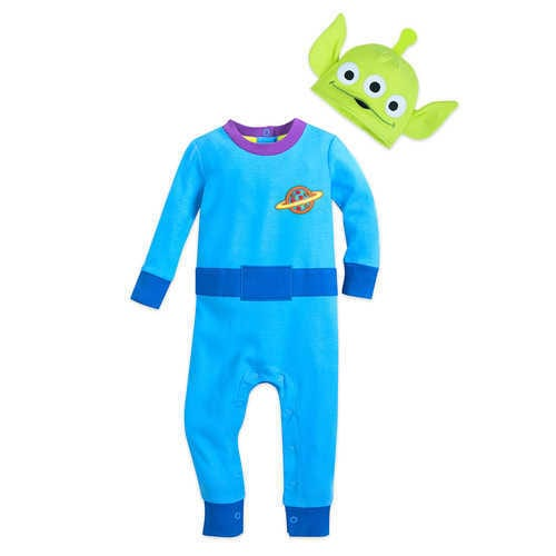 Disney Toy Story Alien Stretchie Sleeper and Hat for Baby