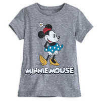 Image of Minnie Mouse Classic T-Shirt for Girls - Gray # 1