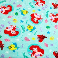 Image of Ariel, Flounder, and Sebastian Fleece Throw - Personalizable - The Little Mermaid # 3