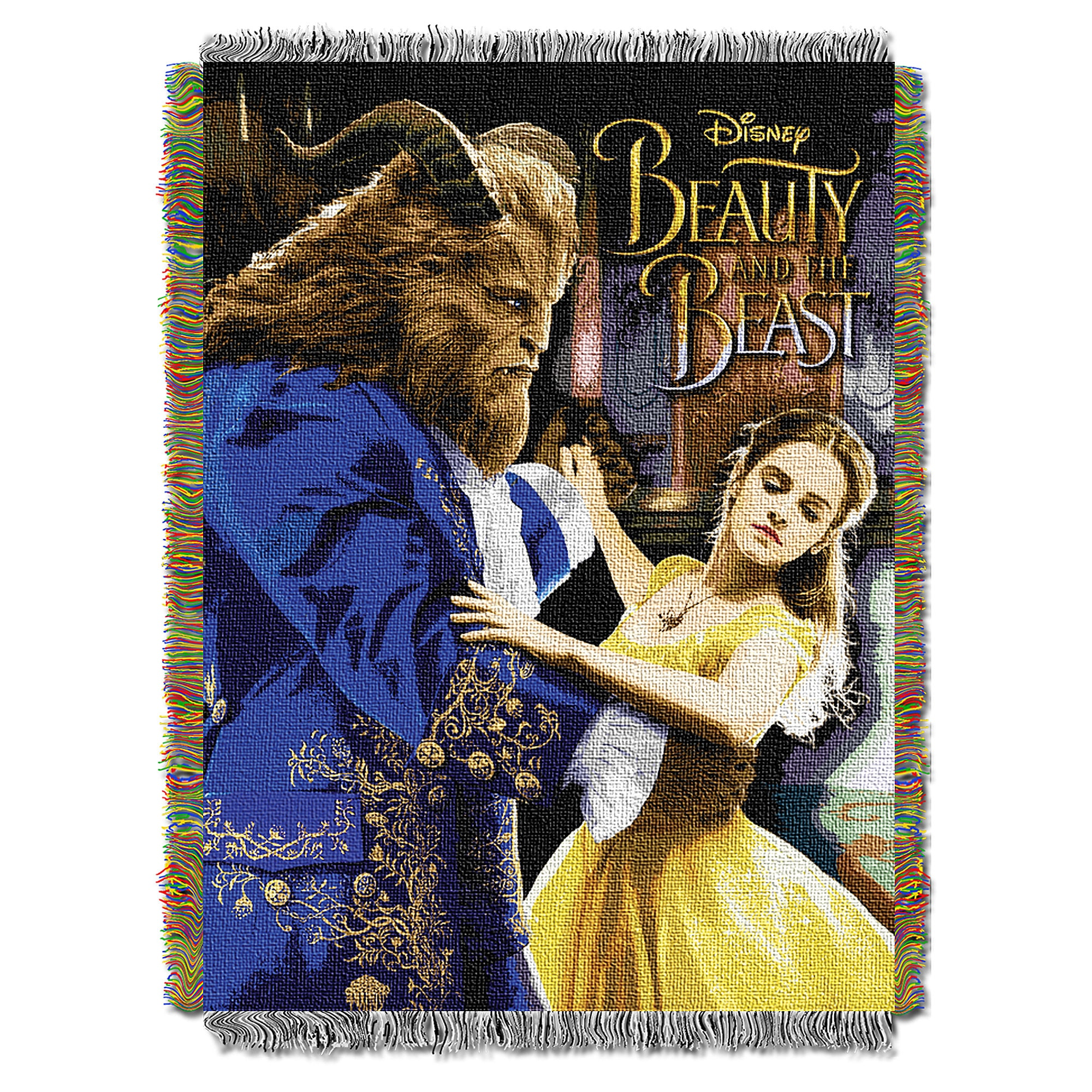 Beauty and the Beast Woven Tapestry Throw