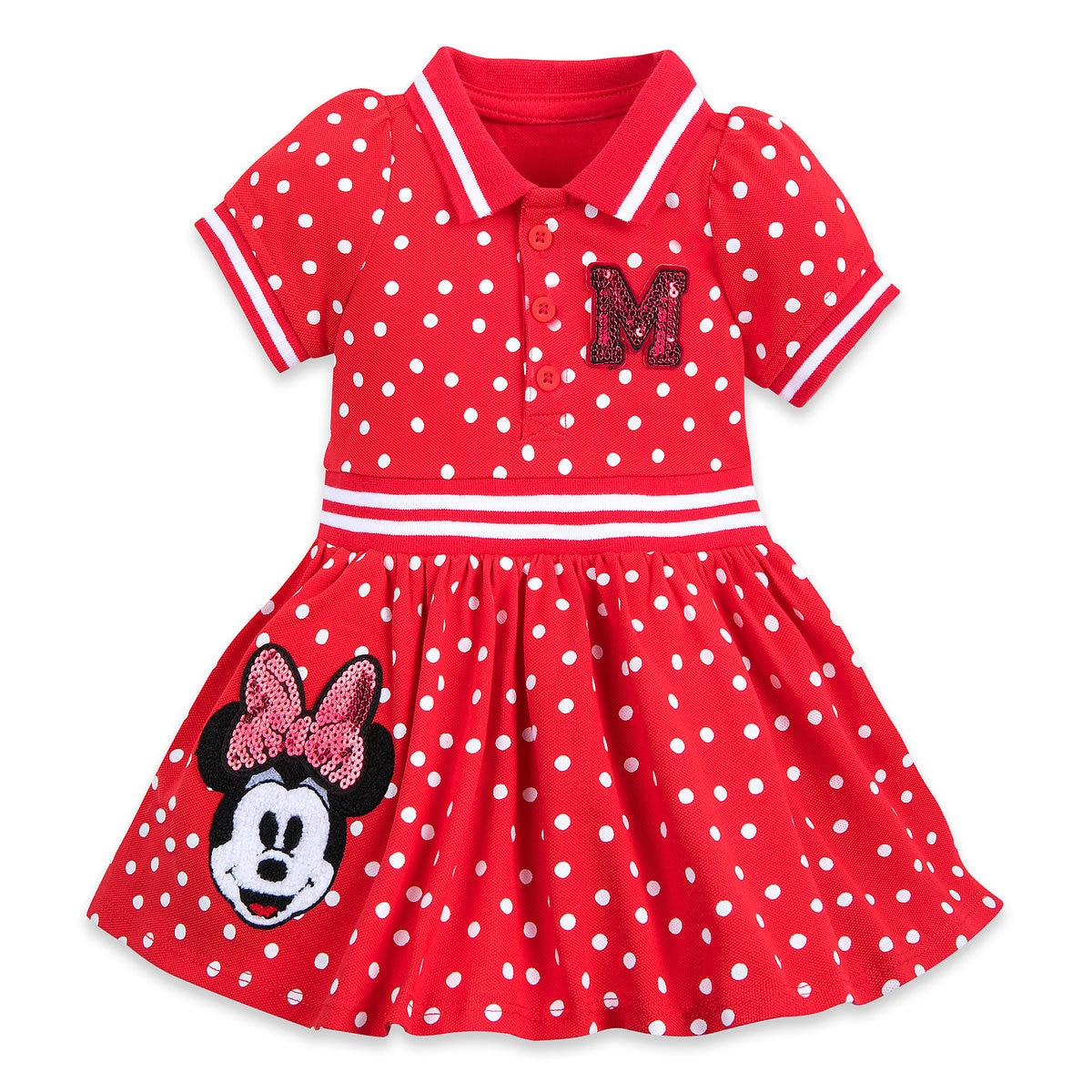 ca40ce4fb Product Image of Minnie Mouse Red Polka Dot Dress for Baby # 1