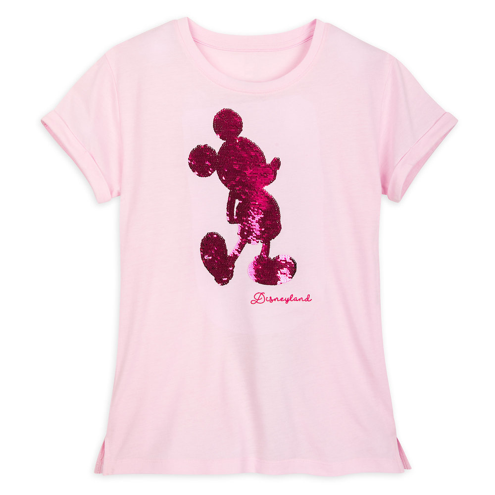 Mickey Mouse Reversible Sequin T-Shirt for Women - Disneyland