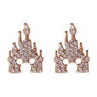 Image of Mickey Mouse Rose Gold Castle Earrings - Rebecca Hook # 1