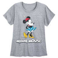 Image of Minnie Mouse Classic T-Shirt for Women - Gray - Extended Size # 1