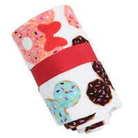 Image of Mickey and Minnie Mouse Donut Fleece Throw # 2