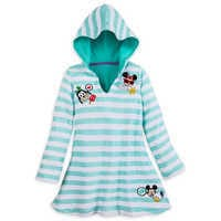 Image of Mickey Mouse and Friends Emoji Swim Cover-Up for Girls # 1