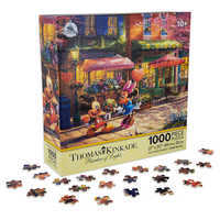 Image of Mickey and Minnie Mouse Sweetheart Cafe Puzzle by Thomas Kinkade # 1