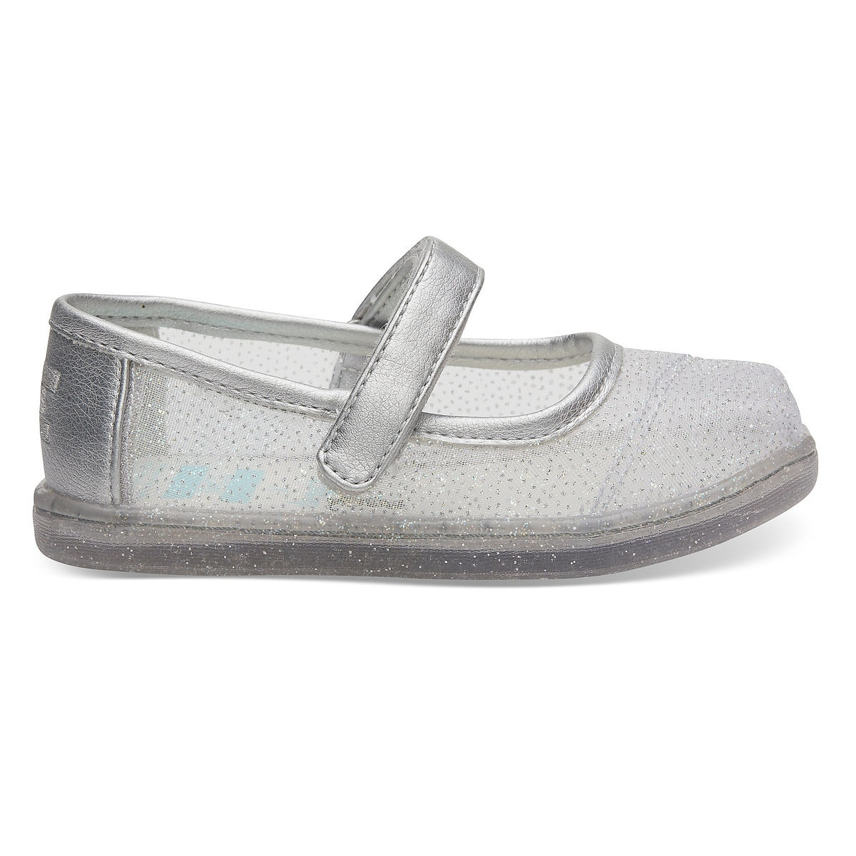 5549352acc7f Product Image of Gus and Jaq Glitter Mesh Mary Janes for Baby by TOMS -  Cinderella