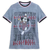 Image of Mickey Mouse Club Lyrics Ringer T-Shirt for Men # 1