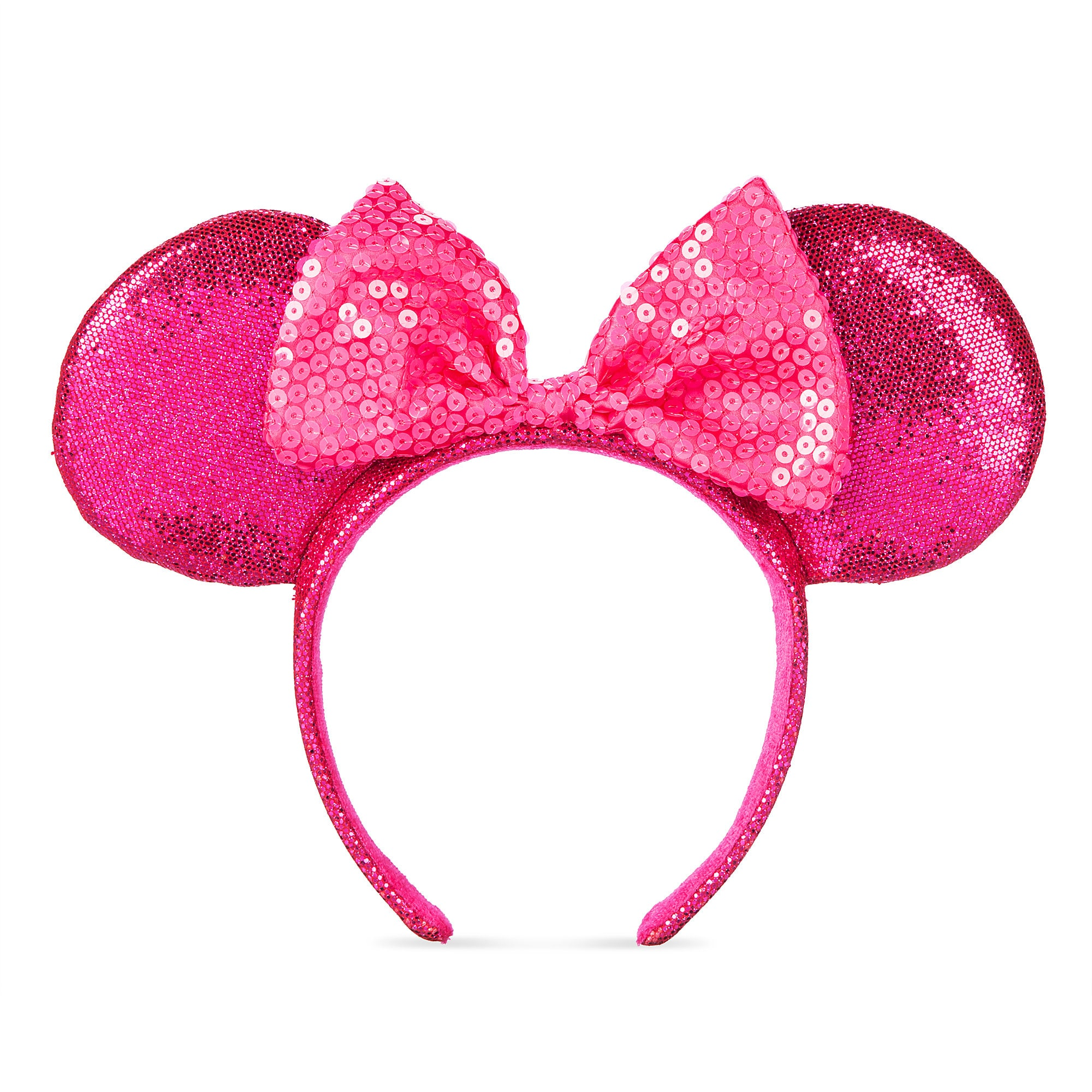 Minnie Mouse Glitter and Sequin Ear Headband - Imagination Pink